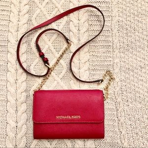 Michael Kors Red Wallet Crossbody